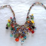 Handmade Guatemalan Glass Bead Necklace