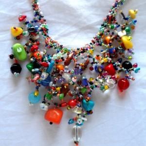 Handmade Guatemalan Glass Bead Necklace